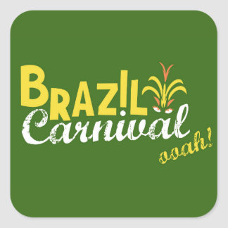 ブラジルのカーニバルのooah! 正方形シール・ステッカー