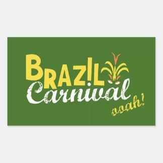 ブラジルのカーニバルのooah! 長方形シール