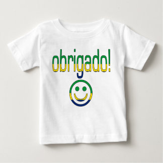 ブラジルのギフトはあなた/Obrigadoを感謝していしています + スマイリーフェイス ベビーTシャツ