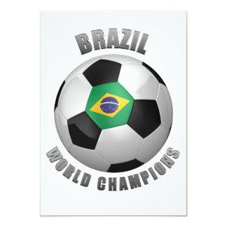 ブラジルのサッカーのチャンピオン カード