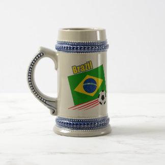ブラジルのサッカーチーム ビールジョッキ