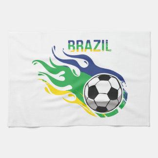 ブラジルのサッカーボール キッチンタオル