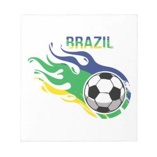 ブラジルのサッカーボール ノートパッド