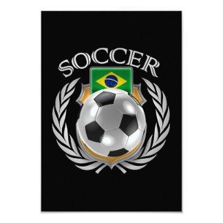 ブラジルのサッカー2016ファンのギア カード