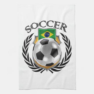 ブラジルのサッカー2016ファンのギア キッチンタオル