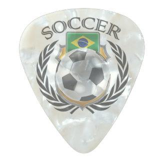 ブラジルのサッカー2016ファンのギア パールセルロイド ギターピック