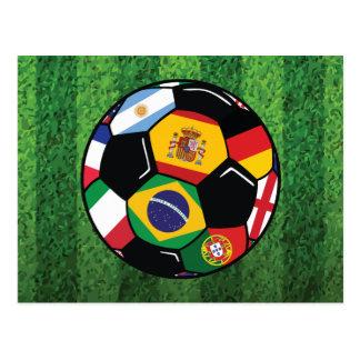 ブラジルのサッカー ポストカード