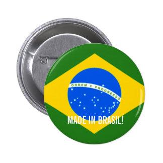 ブラジルのステッカーで作られる!! 5.7CM 丸型バッジ