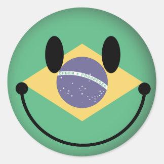 ブラジルのスマイリー ラウンドシール