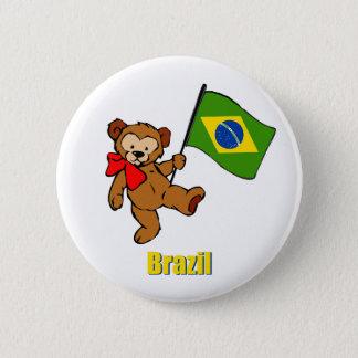 ブラジルのテディー・ベア 缶バッジ