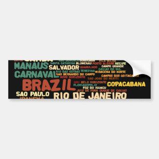 ブラジルのバンパーステッカー バンパーステッカー