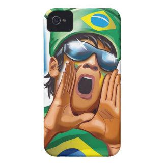 ブラジルのフットボールのファンの反作用のiphone 4ケース Case-Mate iPhone 4 ケース