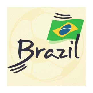 ブラジルのフットボールの絵 キャンバスプリント