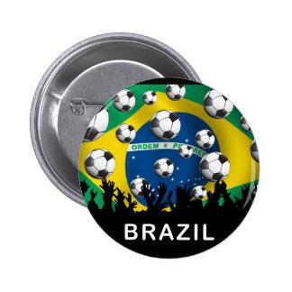 ブラジルのフットボール 5.7CM 丸型バッジ