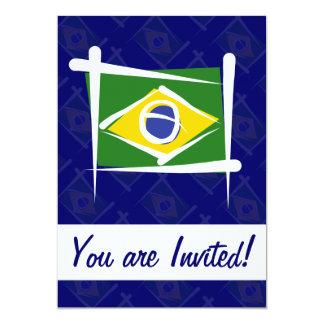 ブラジルのブラシの旗 カード