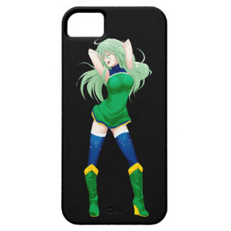 ブラジルのブラジルのマンガの旗の女の子 iPhone SE/5/5s ケース
