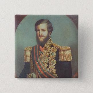 ブラジルのペドロIIの皇帝 5.1CM 正方形バッジ