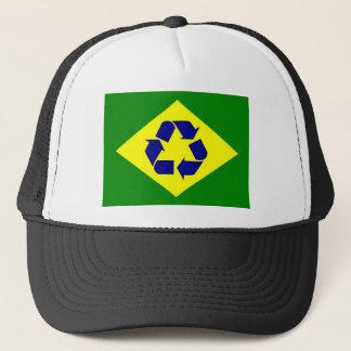 ブラジルのリサイクルの旗の帽子 キャップ