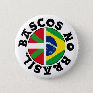 ブラジルのロゴのバスク人、 5.7CM 丸型バッジ