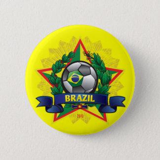 ブラジルのワールドカップのサッカー 缶バッジ