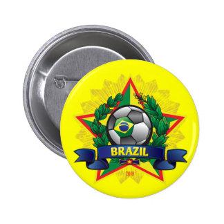 ブラジルのワールドカップのサッカー 5.7CM 丸型バッジ