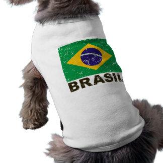 ブラジルのヴィンテージの旗 ペット服