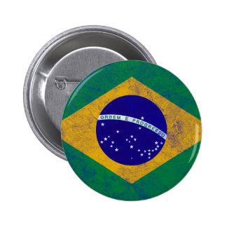 ブラジルのヴィンテージの旗 5.7CM 丸型バッジ