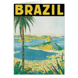 ブラジルのヴィンテージ旅行ポスター カード