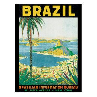 ブラジルのヴィンテージ旅行ポスター ポストカード