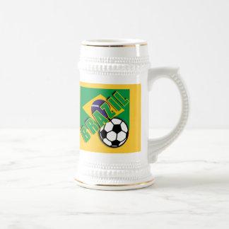 ブラジルの世界のサッカーファンのTシャツ ビールジョッキ