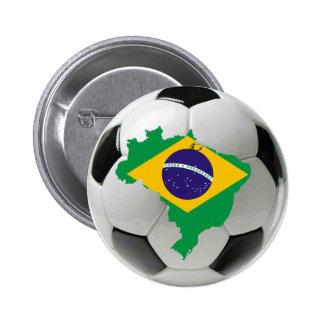 ブラジルの全国代表チーム 5.7CM 丸型バッジ