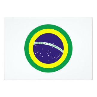 ブラジルの円形の旗 カード