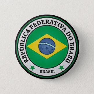 ブラジルの円形の紋章 5.7CM 丸型バッジ