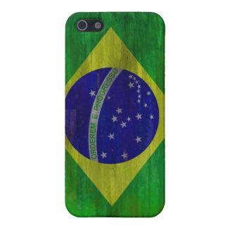 ブラジルの動揺してなブラジルの旗 iPhone 5 ケース