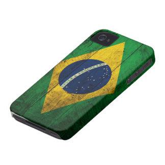 ブラジルの古い木の旗 Case-Mate iPhone 4 ケース