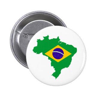 ブラジルの国旗の地図の形のブラジル人 5.7CM 丸型バッジ