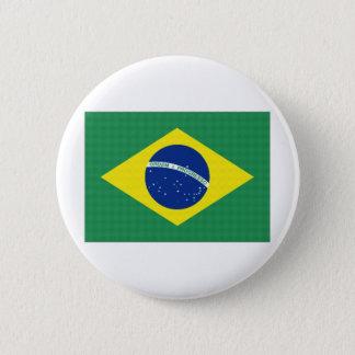 ブラジルの国旗 5.7CM 丸型バッジ