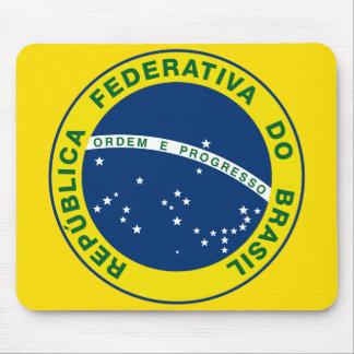 ブラジルの国民のシール マウスパッド
