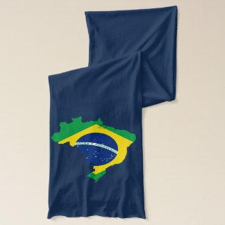 ブラジルの地図海軍スカーフ スカーフ