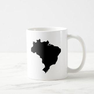 ブラジルの地図 コーヒーマグカップ