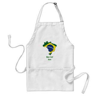 ブラジルの地図 スタンダードエプロン