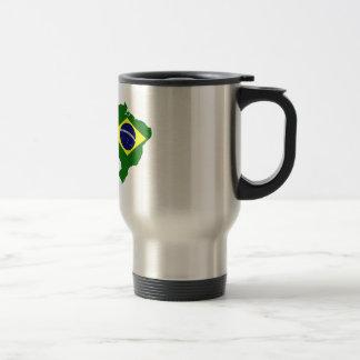 ブラジルの地図 トラベルマグ