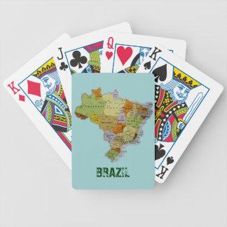 ブラジルの地図 バイスクルトランプ