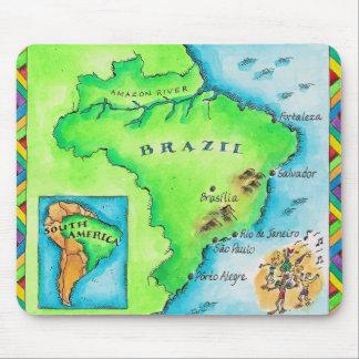 ブラジルの地図 マウスパッド