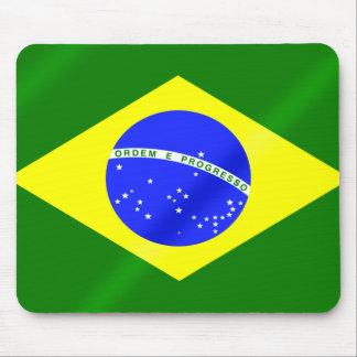 ブラジルの夏のゲームのブラジル人の旗 マウスパッド