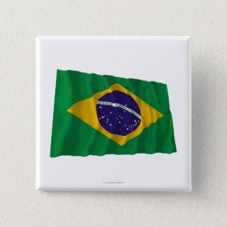 ブラジルの振る旗 缶バッジ