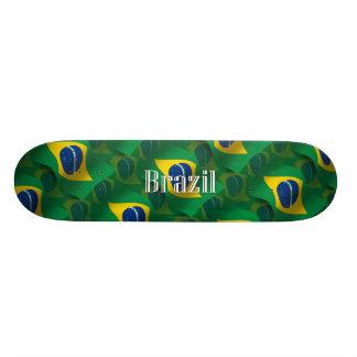 ブラジルの振る旗 18.4CM ミニスケートボードデッキ