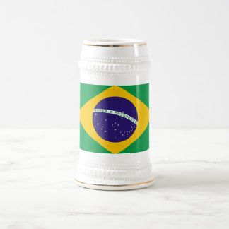 ブラジルの旗が付いているマグ ビールジョッキ