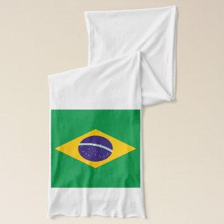 ブラジルの旗が付いている愛国心が強いスカーフ スカーフ