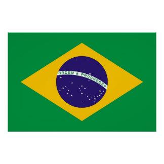 ブラジルの旗が付いている愛国心が強いポスター ポスター